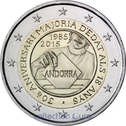 Coin Commemorative Andorra 2015