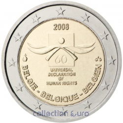 Coin Commemorative Belgium 2008