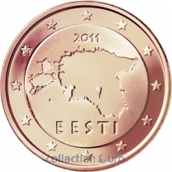 Coins estonia of 0.02