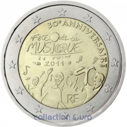 commemorative coin of Euro 2€ 2011