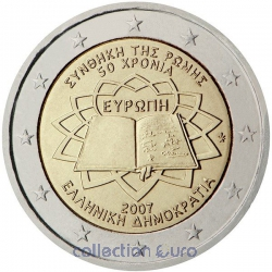 areaeuro coin of Euro 2€ 2007