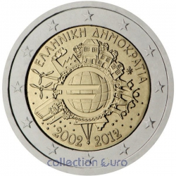 Area Euro coin of Euro 2€ 2012