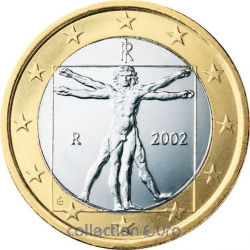 Common currency of the Euro in Italy