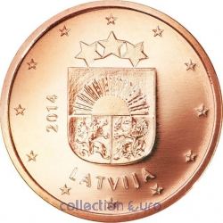 Coins latvia of 0.01