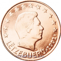 Coins luxembourg of 0.02