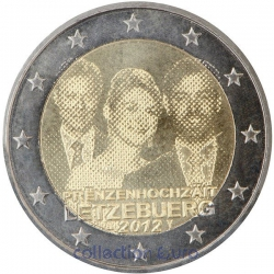 Coin Commemorative Luxembourg 2012